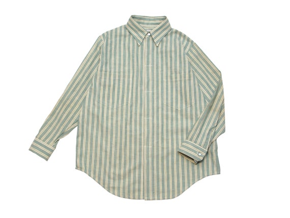 HAND MADE striped work shirt