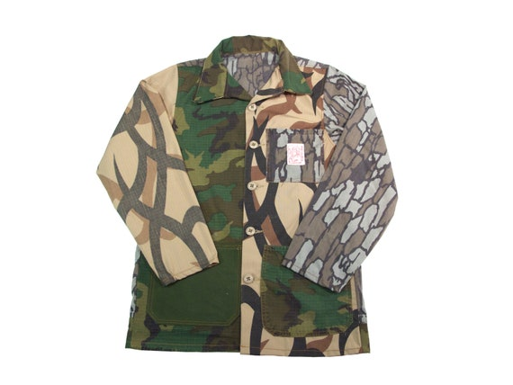 HAND MADE crazy pattern camo chore jacket