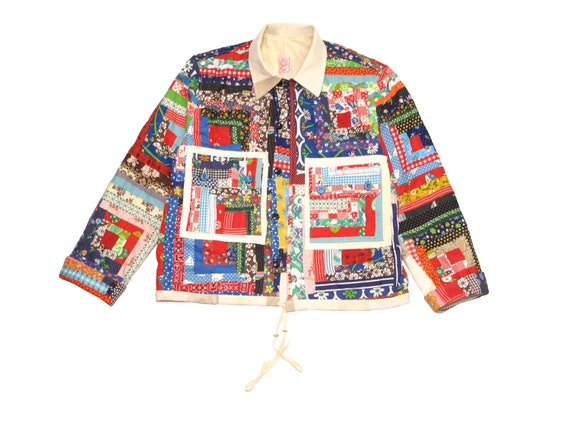 HAND MADE log cabin jacket