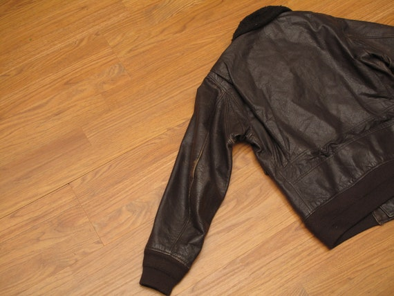 vintage 1972 USN G1 leather flight jacket - image 7