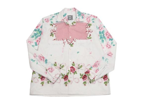 rose table cloth shirt