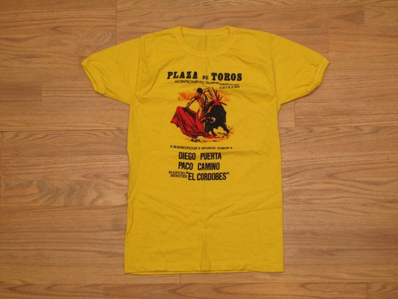 vintage 60s bull fight poster t shirt