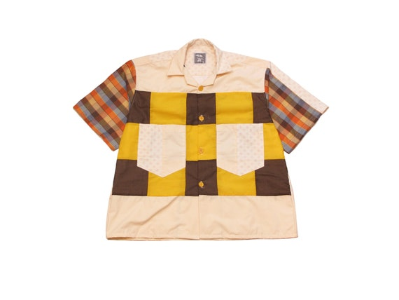 HAND MADE quilt top camp shirt