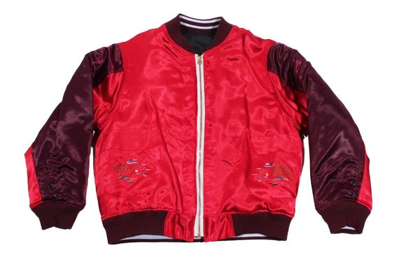 HAND MADE two tone embroidered bomber jacket