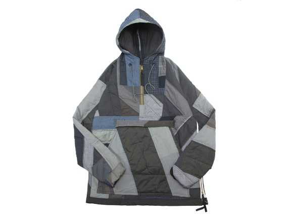 HAND MADE quilted pull over anorak