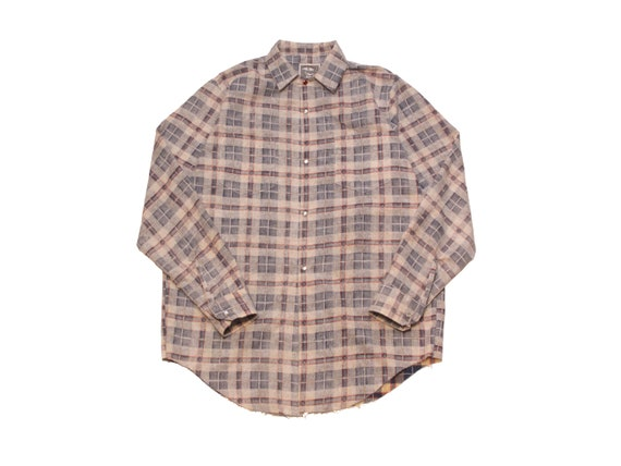 HAND MADE inside out flannel shirt