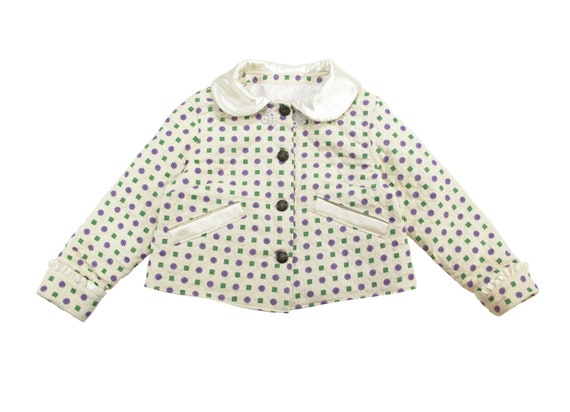 HAND MADE womens quilted cropped jacket
