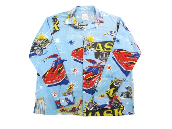 HAND MADE Mobile Armored Strike Kommand long sleeve aloha shirt