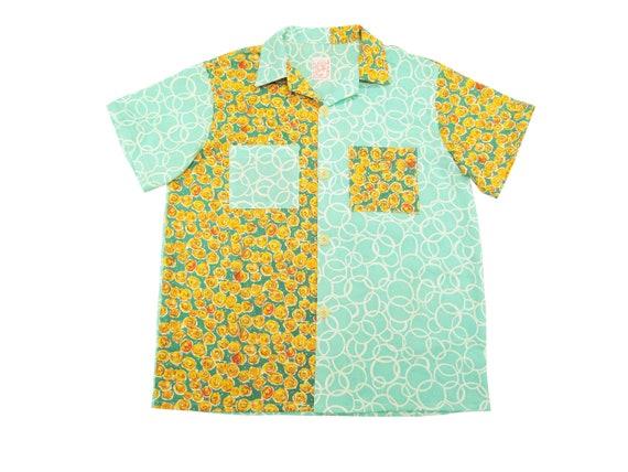 HAND MADE antique feed sack aloha shirt