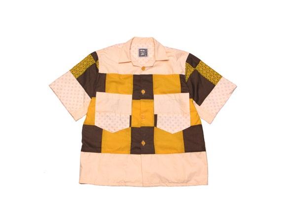 HAND MADE quilt top camp shirt