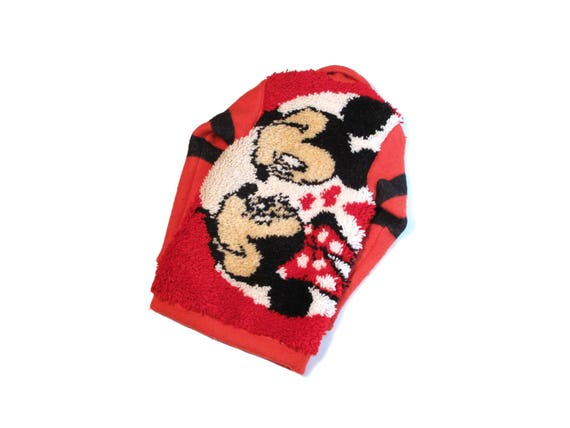 HAND MADE Mickey Mouse hook rug coaches jacket