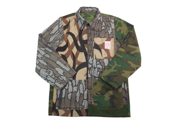 HAND MADE crazy pattern camo chore jacket