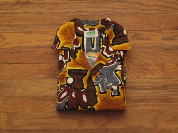 vintage Malahini barkcloth aloha shirt