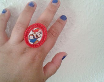 Paper Mario Ring - Super Mario - GAMER- Mario & Luigi