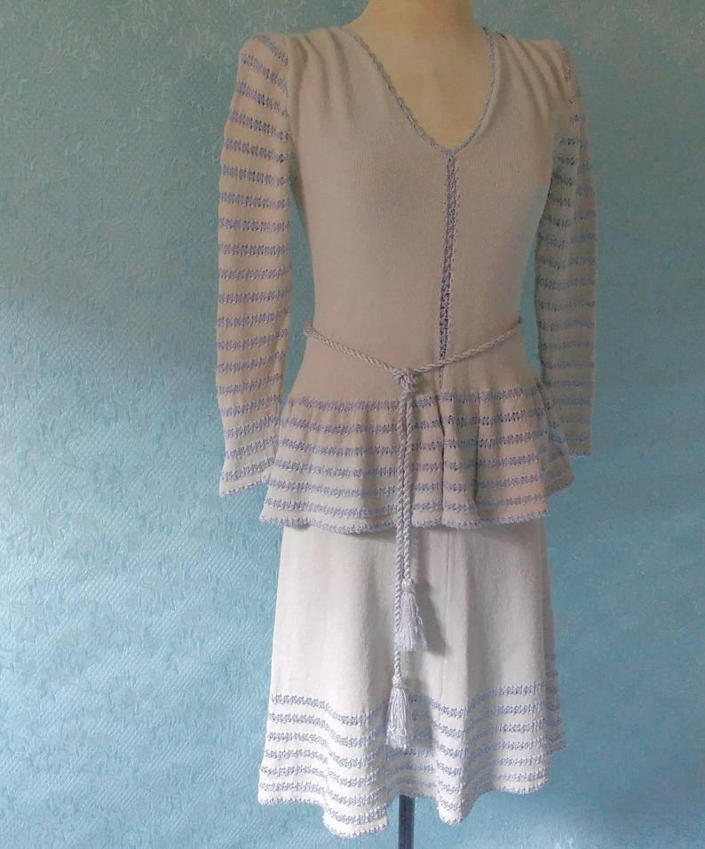 1950's Sweater and Skirt Miss JoAnn California Size 12