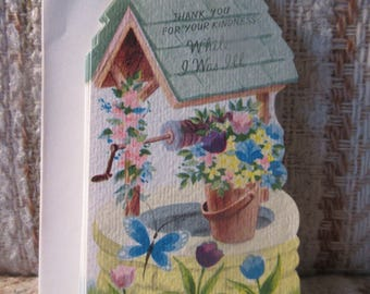 A Set of Ten Rust Craft Wishing Well Thank You Cards