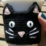 PDF Pattern: Cat Cup Cozy Crochet Pattern - Permission to Sell