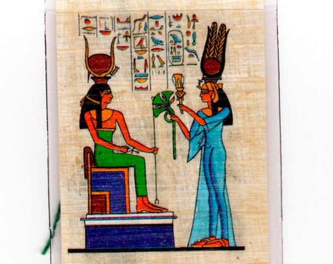 Nefertari and Hathor Egyptian Papyrus Bookmark! Queen and Goddess of Egypt! Great gift for women, book clubs, party favors, teacher gifts