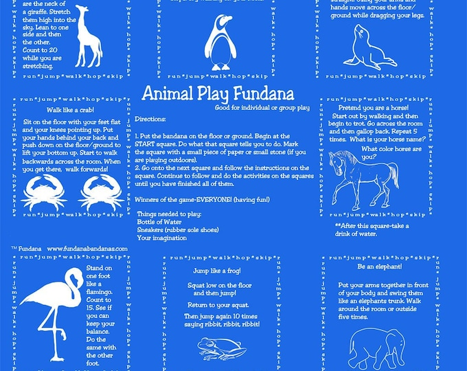 PLAY INDOORS or OUT! Animal Play Fundana! Kids will burn off energy and learn how different animals move. Fun game for kids at home!