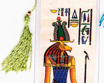 God of the Nile River. Khnum was the creator God. Genuine Egyptian Papyrus Bookmark. Unique, useful gift for kids, adults, teachers and more