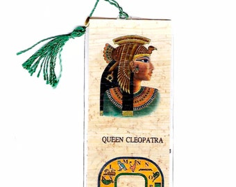 Queen Cleopatra Papyrus Bookmark! A beautiful, unique, inexpensive gift for women, girls, teens. mothers day! Cleopatra school projects!