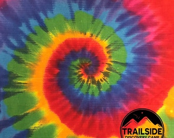 New! Custom Do It Yourself Tie Dye Bandanas! Great camp, reunion, scout, family craft activity! We print your logo-you tie dye it!
