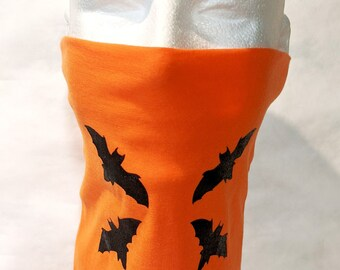 New! Double Layer Gaiter Facemask! BATS! It's that season! Soft, comfortable, easy to wear, washable, made in USA! Great for men and women!