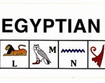 Hieroglyphic alphabet and number stickers! Only .40 each. Sold by the dozen. Fun activity for kids about Egypt! Great for kids at home!