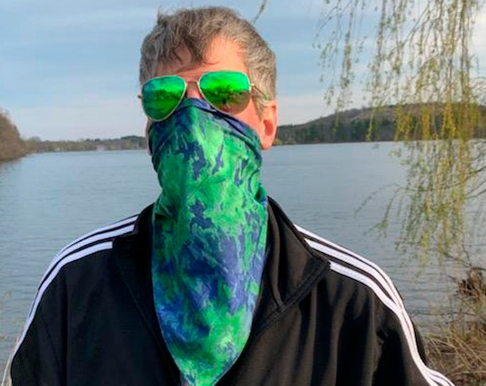 Cool Tie Dye Bandana Face Masks! Soft, washable in hot water, reusable, 100% cotton. Sold individually. Great for men, women, teens!