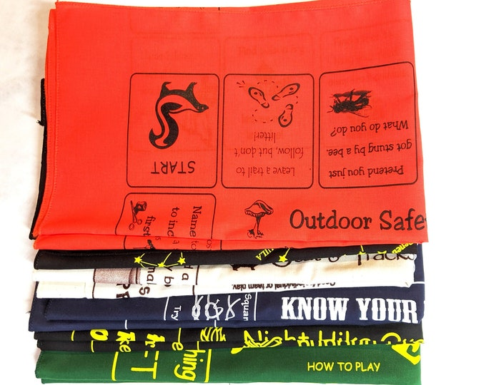 New! Scout Value Variety Pack! 6 different Fundanas-Outdoor Safety, Stars, Tracks, Knots, Night Hike, Nature! Keep Scout Skills Current!