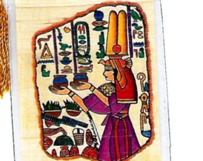 """Queen Nefertari Papyrus Bookmarks! Nefetari means """"beautiful companion"""". An elegant, unique gift for wives, girlfriends, bookclubs and more!"""