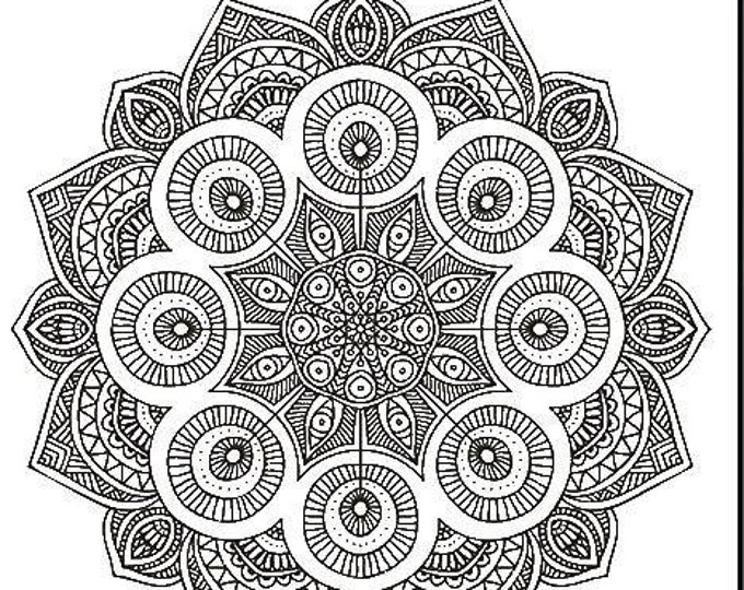 NEW! Color Your Own Bandanas with Markers! Mandala Design. All you need is your imagination! Great activity for camps, rainy days, vacations