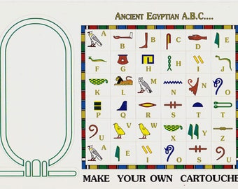 SALE!! Hieroglyphic Alphabet stickers! 60% off regular price! Just .80 each. Sold in lots of 20. Limited time. Teachers, parents!