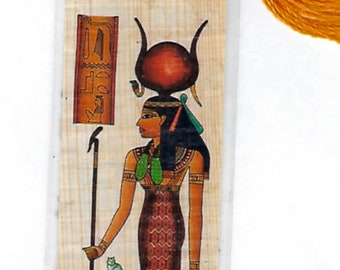 Goddess of Life, Magic, Heaing &  Protection. Egyptian Papyrus Bookmark. Imported from Egypt. Unique gift for mom, sister, friend, teacher