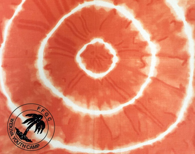 New! Custom Do It Yourself Tye Dye Bandanas! Great camp, reunion, scout, family craft activity! We print your logo-you tye dye it!
