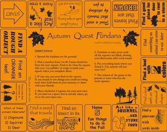 Fall is FUN!  Play our nature scavenger hunt about the fall season. Great outdoor activity for kids, camps, schools, homeschoolers!