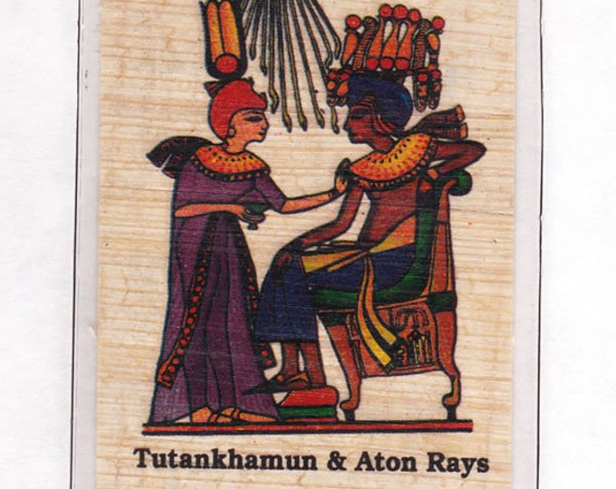 New! Temple Egyptian Alphabet Papyrus Bookmarks! Tut and Aton Ray god of the Sun! Great gift for teachers, kids, student rewards!