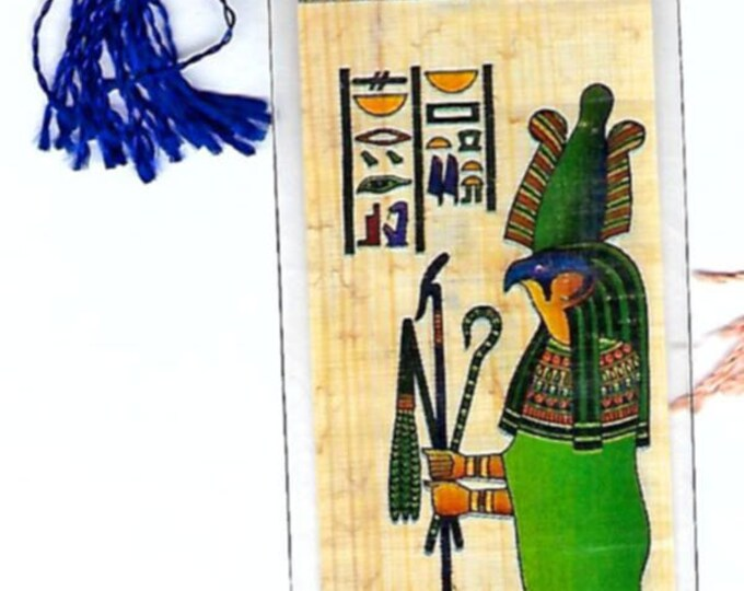 New Egyptian Papyrus bookmark-Sokaris Patron of the workers who built tomb artifacts! Great gift for your boss, teacher, homeschoolers!