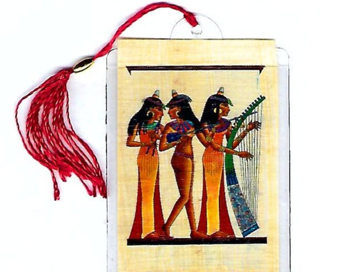 Dancing Musicians Egyptian papyrus bookmark. Beautiful, Egyptian Image. Great for teacher gifts, book clubs, stocking stuffers!