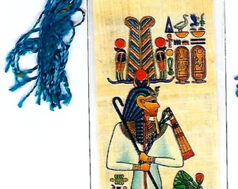 Geb-Egyptian God of the Earth Papyrus Bookmark. A unique, useful gift for teachers, book clubs, home schoolers, party favors!