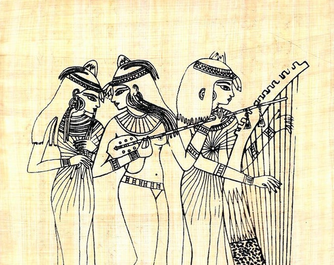 New! Papyrus Dancing Musicians color your own papyrus print! Different gift idea for women, girls, Christmas, Kwanzaa! Creative, unique gift