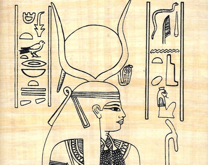 New! Color Nefertari Design on Egyptian Papyrus! Create Your Own Egyptian Masterpiece! Fun art activity for kids, artists! Creative gift!