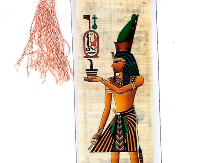 New!Ramses The Great Papyrus Bookmark! A unique gift for men, kids, teachers, home schoolers, fathers day! Practical and affordable!