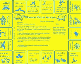Discover Nature! Play our  Scavenger Hunt Game! Fun, different way to learn and make discoveries in nature. Great for kids, families, camps!