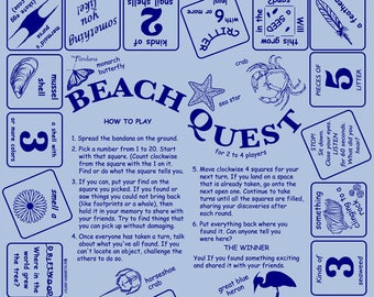Fun at the Beach! Play and learn while on vacation! Fun scavenger hunt game for kids, families, camps! Learn about the seashore and more!