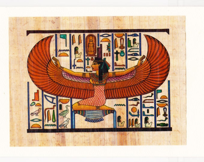 Goddess of love, magic, motherhood, fertility and healing our papyrus note card makes a unique, beautiful gift. Mothers, women