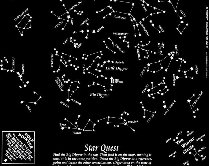 Great for Summer! GLOW in the dark constellation bandanas! Activity for Families, Scouts. Learn to read the night sky in a different way!
