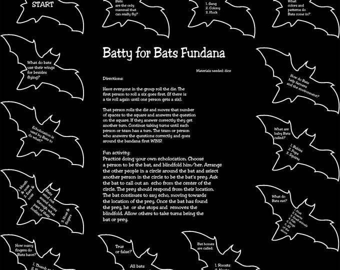 BATS!! Learn all about Bats in a fun way with our Batty for Bats Fundana. Included is an activity about echolocation! Bats are cool!!