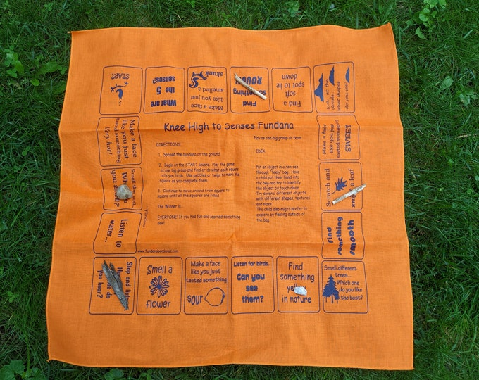 See, touch, smell, hear nature! Play our Knee High to Senses Scavenger hunt game! Make discoveries with your 3-6 year old! Easy, fun!