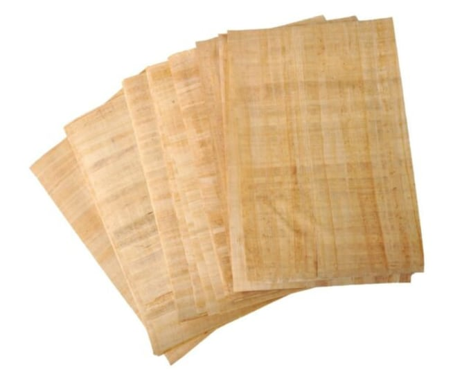 New! Genuine Egyptian Papyrus paper! Sold in sheets of 10! Measure approx 9.5  x 11 inches. Great for artists, homeschoolers, crafters!